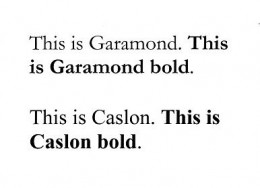 Fonts - Garamond - Caslon